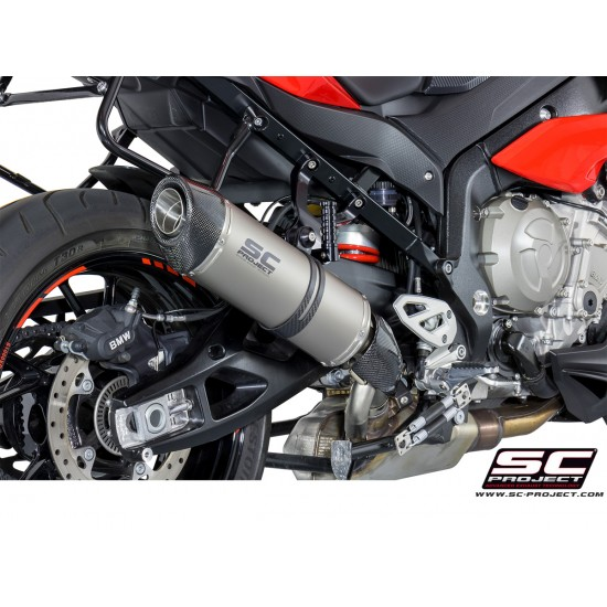 SC-Project Oval Silencer - High Position Titanium With Carbon Cap BMW S 1000 XR 2017-2018 MPN - B23-H01T