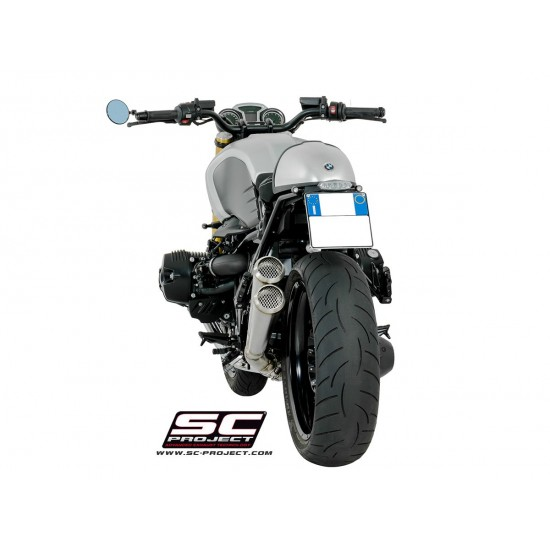 SC-Project Twin Conic '70s Silencers Stainless Steel BMW R nineT MPN - B18-D39A70S