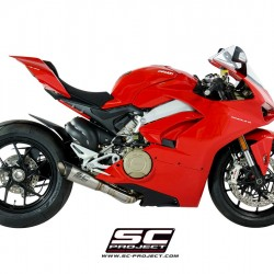 SC-Project 2-1 Exhaust System In Full Titanium And S1 Muffler Titanium Ducati Panigale V4 MPN - D26-LT41T