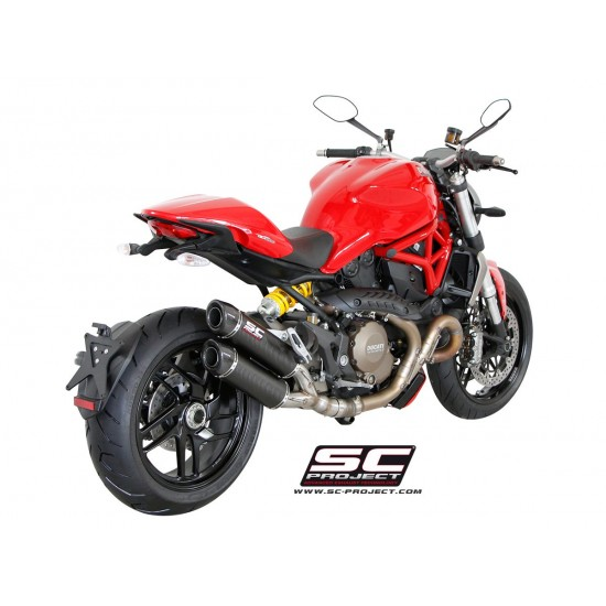 SC-Project GP-Tech Twin Silencers Carbon Silencer Ducati Monster 1200 / S 2014-2016 MPN - D12-D27C
