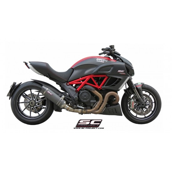 SC-Project Oval Silencer Black Stainless Ducati Diavel 2011-2017 MPN - D08-01O