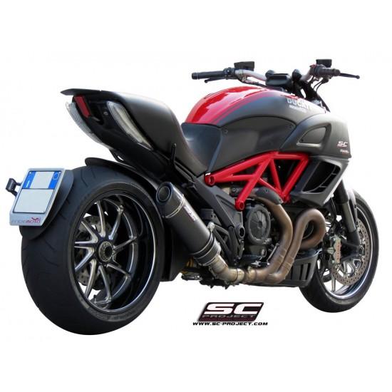 SC-Project Oval Silencer Carbon Fiber Ducati Diavel 2011-2017 MPN - D08-01C