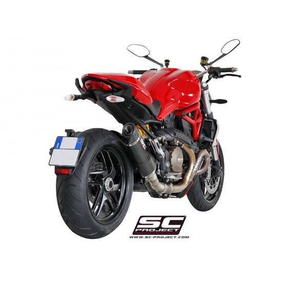 SC-Project Matt Carbon Oval Silencer Matt Carbon Ducati Monster 1200 / S 2014-2016 MPN - D12-01C