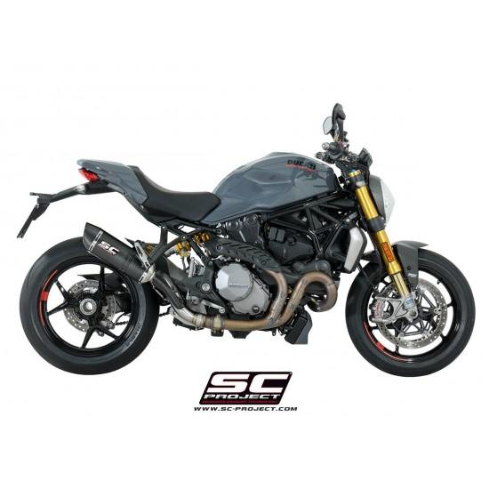 SC-Project Oval Silencer Matt Carbon Ducati Monster 1200 S 2017 MPN - D24-12C