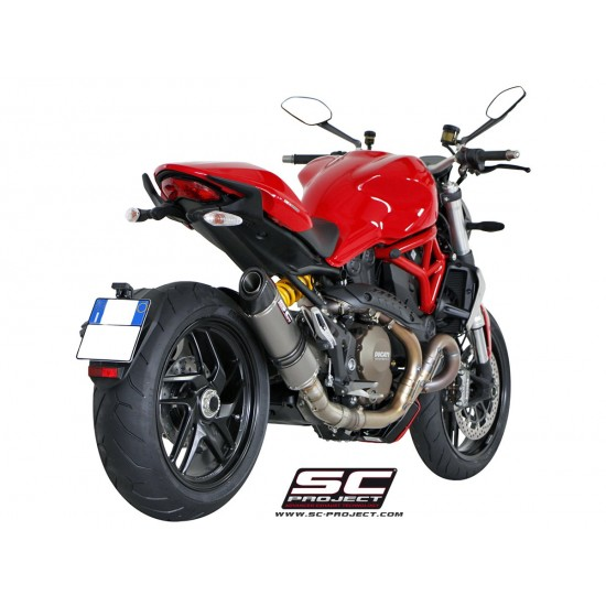 SC-Project Oval Silencer Titanium Ducati Monster 1200 / S 2014-2016 MPN - D12-01T