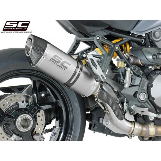 SC-Project Oval Silencer Titanium Ducati Monster 1200 S 2017 MPN - D24-12T