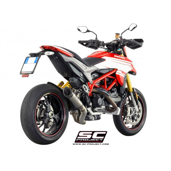 SC-Project S1 Exhaust With 2-1 Link Pipe Titanium Ducati Hypermotard 939 MPN - D10-DL41T