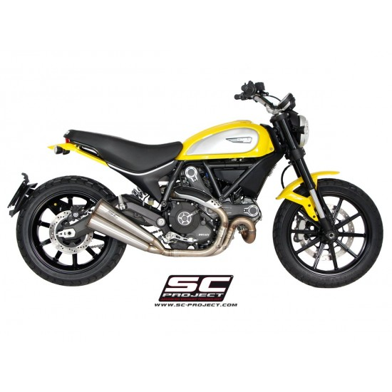 SC-Project Twin Conic Silencers Stainless Steel Ducati Scrambler MPN - D16-D39A