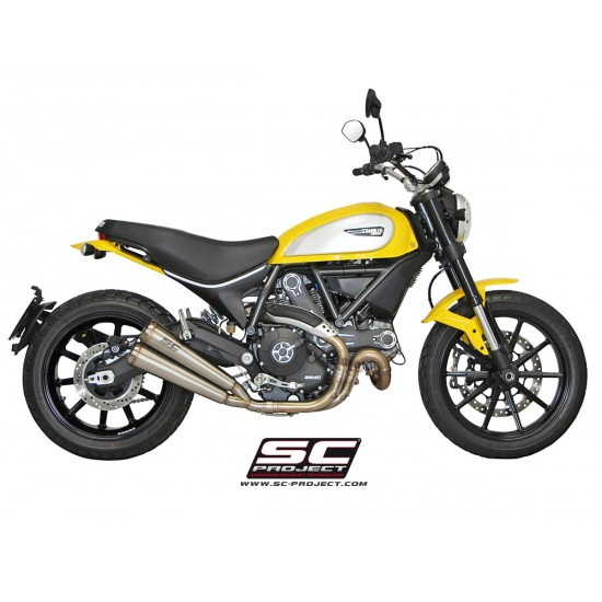 SC-Project Twin Conic '70s Silencers Stainless Steel Ducati Scrambler MPN - D16-D39A70S