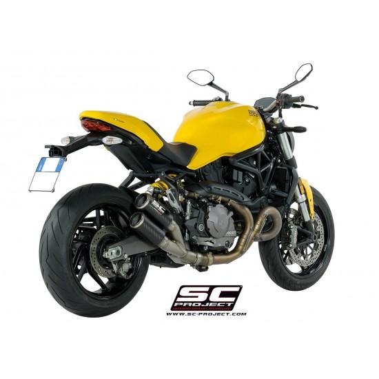 SC-Project Twin CR-T Mufflers Carbon Ducati Monster 821 2018 MPN - D25-DT36C