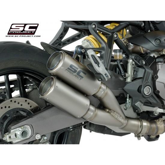 SC-Project Twin CR-T Mufflers Titanium Ducati Monster 821 2018 MPN - D25-DT36T
