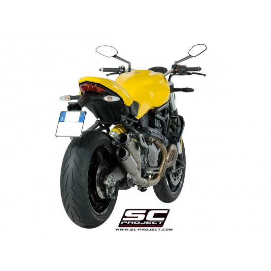 SC-Project Twin GP70-R Mufflers Titanium Ducati Monster 821 2018 MPN - D25-DT70T