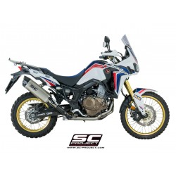 SC-Project Full System 2-1 With Full Titanium Headers Collectors And Adventure Muffler Full System In Titanium Honda CRF1000L Africa Twin MPN - H16-TC85T