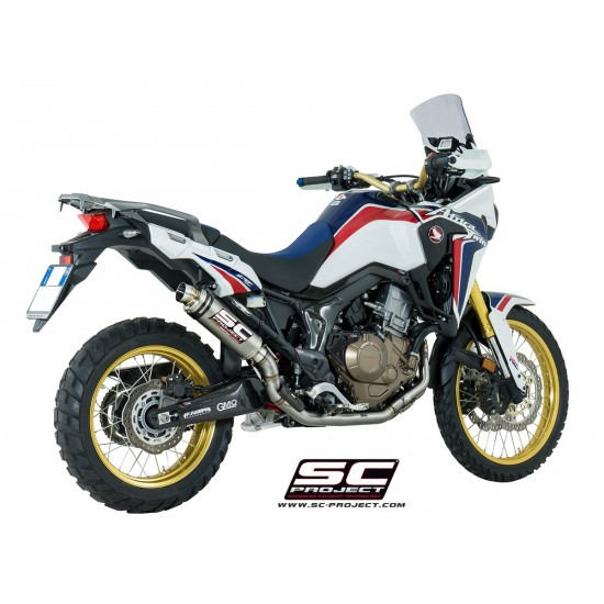 SC-Project Full System 2-1 With Full Titanium Headers Collectors And Gp65 Muffler Full System In Titanium Honda CRF1000L Africa Twin MPN - H16-TC65T