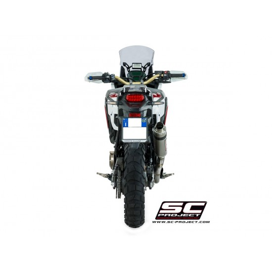SC-Project Full System 2-1 With Full Titanium Headers Collectors And GP Muffler Full System In Titanium Honda CRF1000L Africa Twin MPN - H16-TC06T