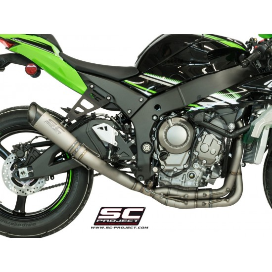 SC-Project Full System 4-2-1 With Full Titanium Collectors And S1 Silencer Full System In Titanium With S1 Muffler Kawasaki Ninja ZX-10R 2016-2018 MPN - K22-TC41T