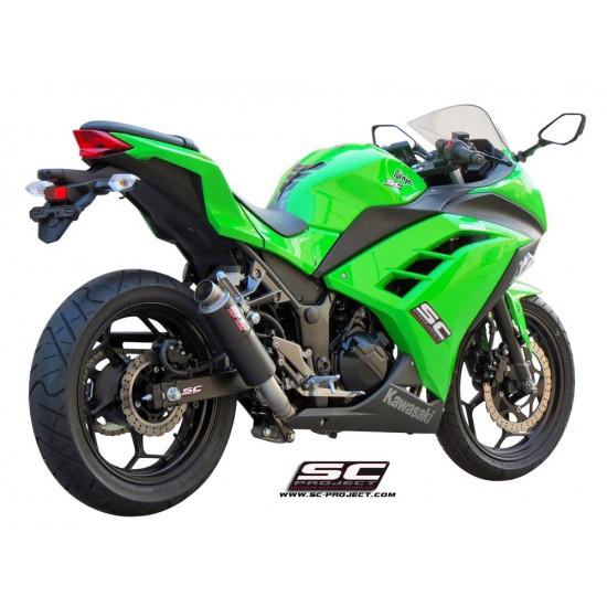 SC-Project Full System 2-1 With GP M2 Silencer Carbon Fiber Kawasaki Ninja 300 MPN - K14-C18C