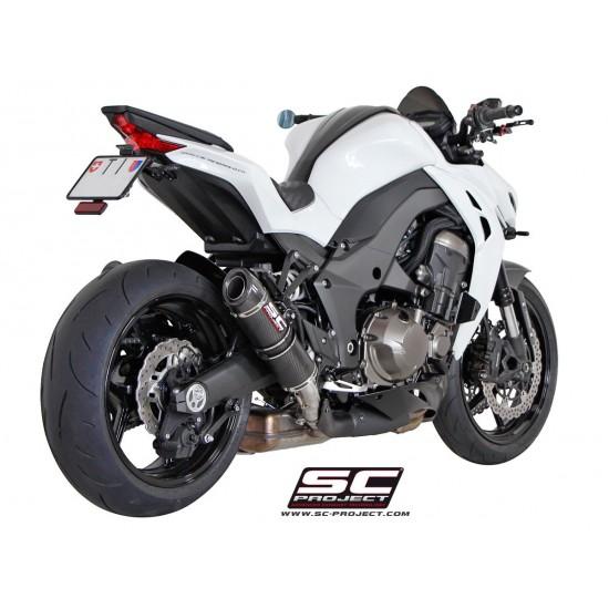 SC-Project GP-Tech Silencers Matt Carbon Fiber Kawasaki Z1000 2014-2016 MPN - K19-28C