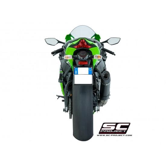 SC-Project Oval Silencer  Matt Carbon Fiber Kawasaki Ninja ZX-10R 2016-2018 MPN - K22-16C