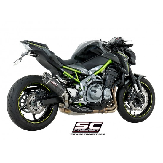 SC-Project Oval Exhaust Carbon Fiber Kawasaki Z900 MPN - K25-T25C