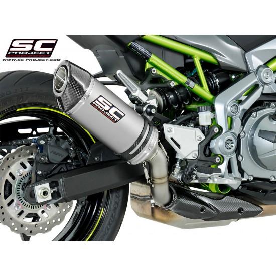 SC-Project Oval Exhaust Titanium Kawasaki Z900 MPN - K25-T25T