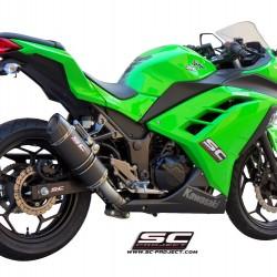 SC-Project Full System 2-1 With Oval Silencer Carbon Fiber Kawasaki Ninja 300 MPN - K14-C25C