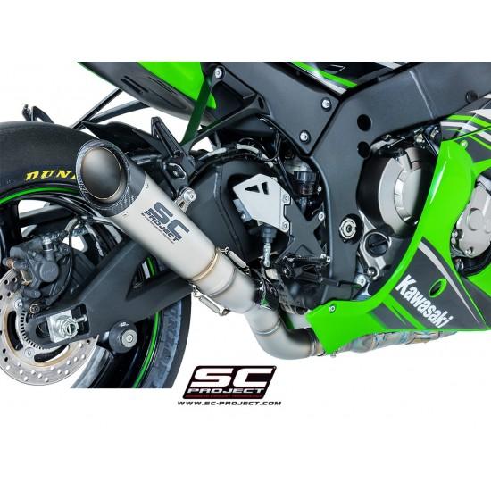 SC-Project S1 Silencer - High Position Titanium Kawasaki Ninja ZX-10R 2016-2018 MPN - K22-H41T