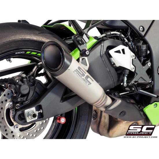 SC-Project S1 Silencer For Original Catalyst Titanium Kawasaki Ninja ZX-10R 2016-2018 MPN - K22-KT41T