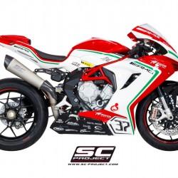 SC-Project Conic Silencer - High Position Titanium Racing Version MV Agusta F3 800 MPN - M03-HT35T-R