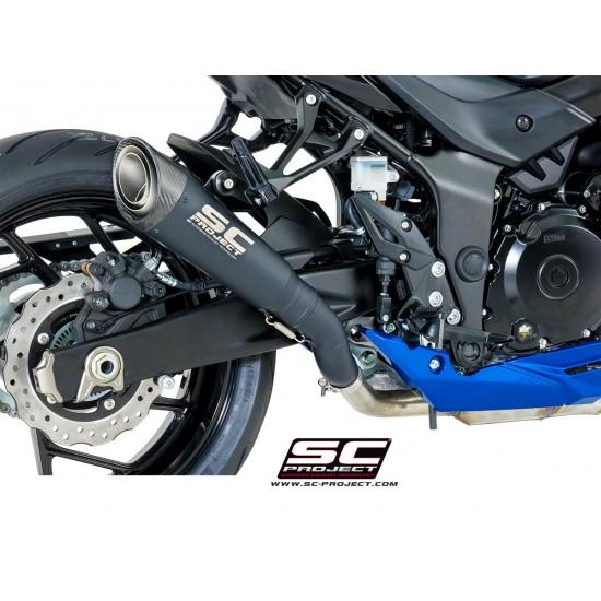 SC-Project S1 Muffler - Black Edition Black Titanium Suzuki GSX-S750 2017-2018 MPN - S15-T41MB