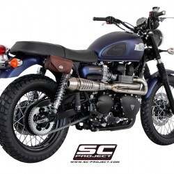 SC-Project Full System 2-1 With Conic Silencer In High Position Stainless Steel Triumph Scrambler MPN - T10-C21A