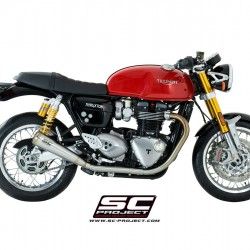 SC-Project Conic '70s Silencers Stainless Steel Triumph Thruxton 1200 R MPN - T11-D37A70S