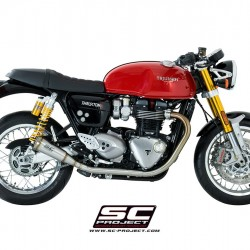 SC-Project Conic '70s Silencers - Short Version Stainless Steel Triumph Thruxton 1200 R MPN - T11-D42A