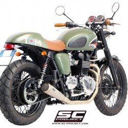 SC-Project Full System 2-1 With Conic '70s Silencer Stainless Steel Triumph Bonneville MPN - T09-C37A70S