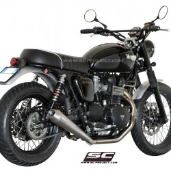 SC-Project Full System 2-1 With Conic Silencer Stainless Steel Triumph Bonneville MPN - T09-C37A