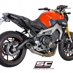 SC-Project Full System 3-1 With Conic Silencer Stainless Steel Yamaha MT-09 2014-2016 MPN - Y19-C21A