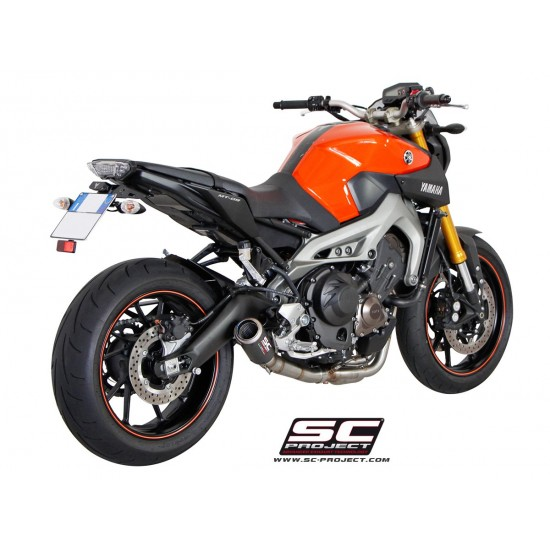 SC-Project Full System 3-1 With CR-T Silencer Carbon Fiber Yamaha MT-09 2014-2016 MPN - Y19-C38C