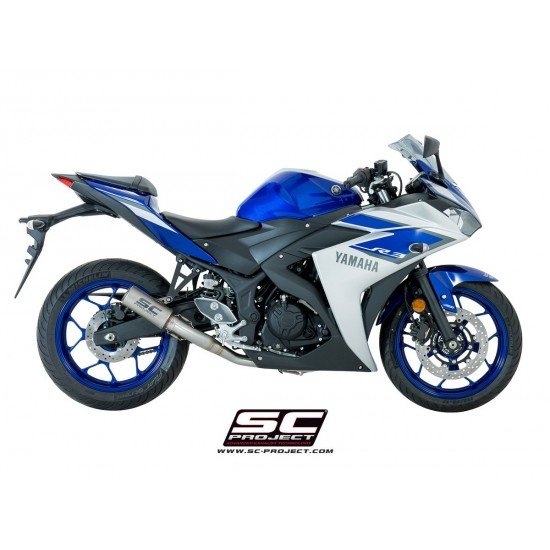 SC-Project Full System 2-1 With CR-T Silencer Titanium Yamaha YZF-R3 2017-2018 MPN - Y23-C38T
