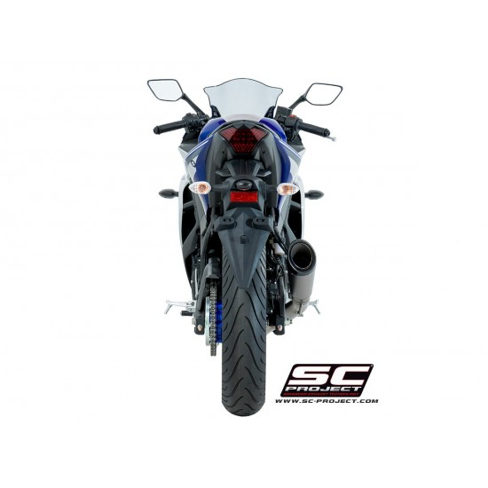 SC-Project Full System 2-1 With S1 Silencer Titanium Yamaha YZF-R3 2017-2018 MPN - Y23-C41T