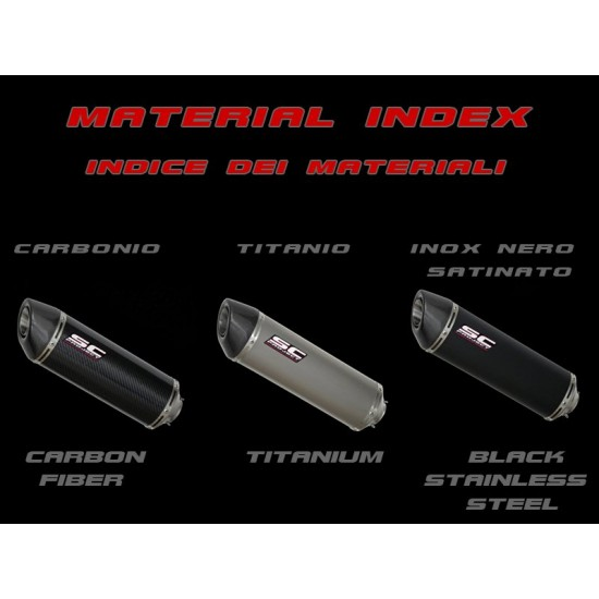SC-Project Oval Silencer Black Stainless Yamaha YZF-R3 2017-2018 MPN - Y23-12O
