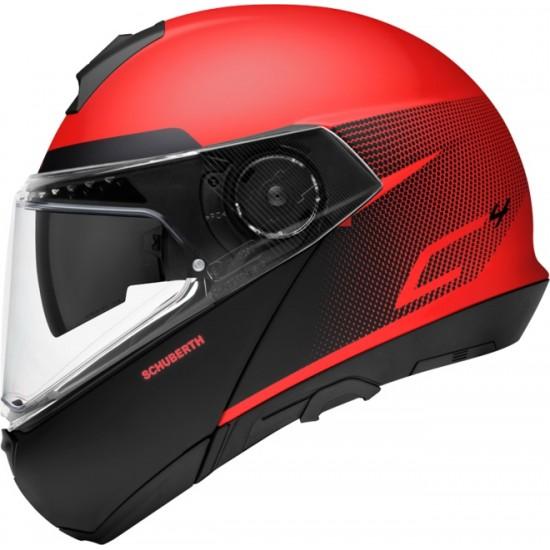 Schuberth C4 Spark Red Modular Helmet