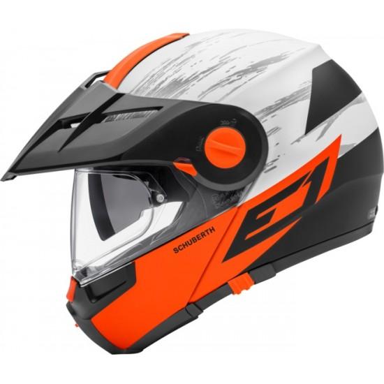 Schuberth E1 Crossfire Orange Modular Helmet