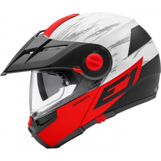 Schuberth E1 Crossfire Red Modular Helmet