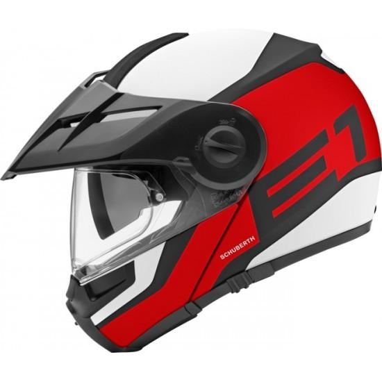 Schuberth E1 Guardian Red Modular Helmet