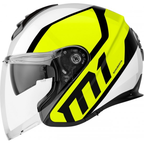 Schuberth M1 Flux Yellow Open Face Helmet