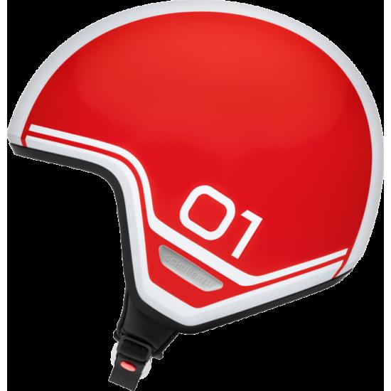 Schuberth O1 Era Red Open Face Helmet