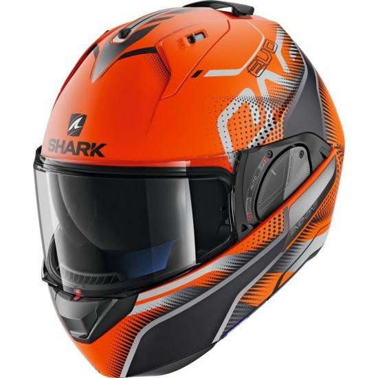 Shark Evo One 2 Keenser Mat Orange Black Anthracite Oka Modular Helmet