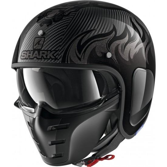 Shark S-Drak Carbon Dagon Anthracite Anthracite Open Face Helmet