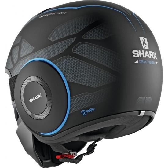 Shark Street Drak Hurok Mat Black Blue Black Open Face Helmet