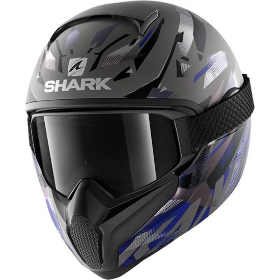 Shark Vancore 2 Kanhji Anthracite Black Blue Akb Full Face Helmet